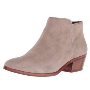 SAM EDELMAN PETTY SUEDE ANKLE BOOTS TAN PUTTY 7.5